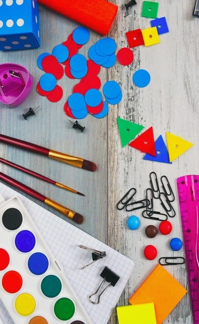 various learning supplies