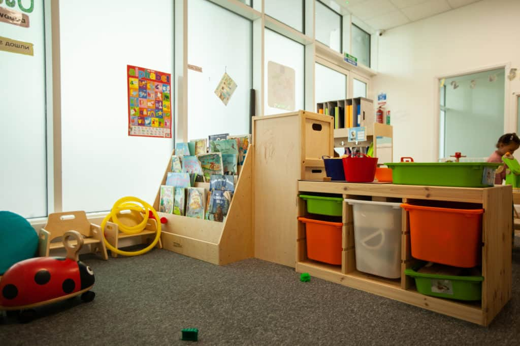 Book and play area corner
